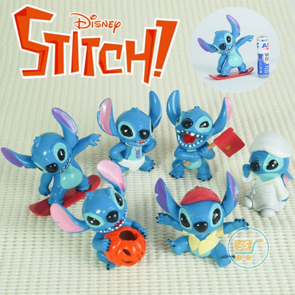 Action Figure Stitch Set Of 6 (Gambar 2)
