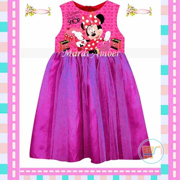 Dress Minnie Loves To Shop (Impor)