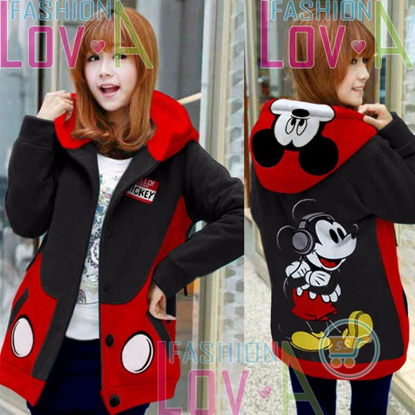 Jaket Mickey Headphone Hoodie Korea