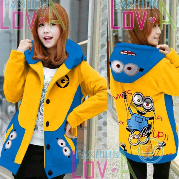 Jaket Minion Whats Up Hoodie Korea