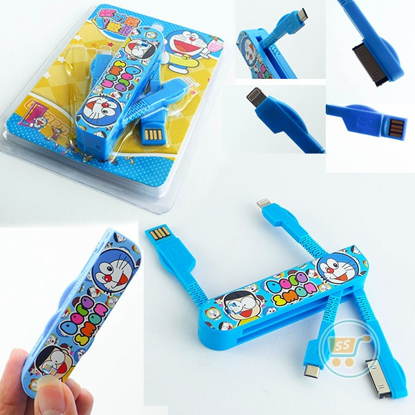 Kabel Data Doraemon Lipat Multifungsi