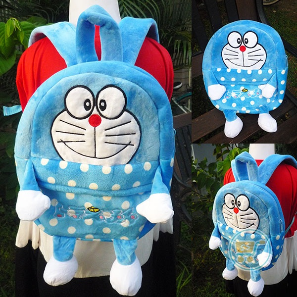 Ransel Doraemon Polkadot Cute Body