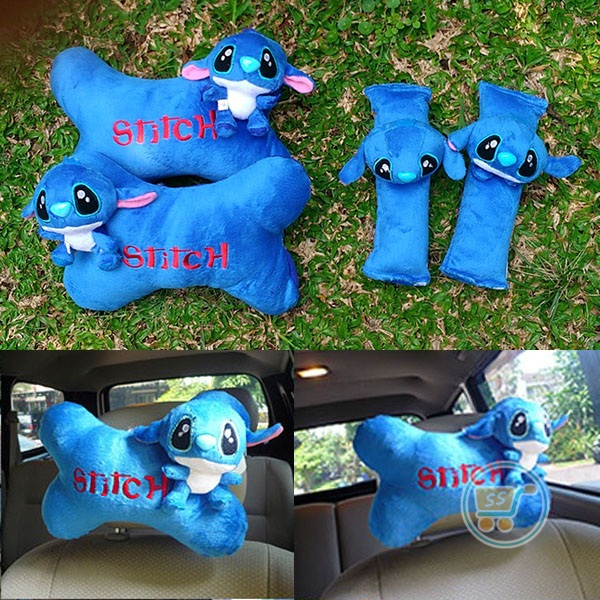 Bantal Mobil Stitch With Seatbelt