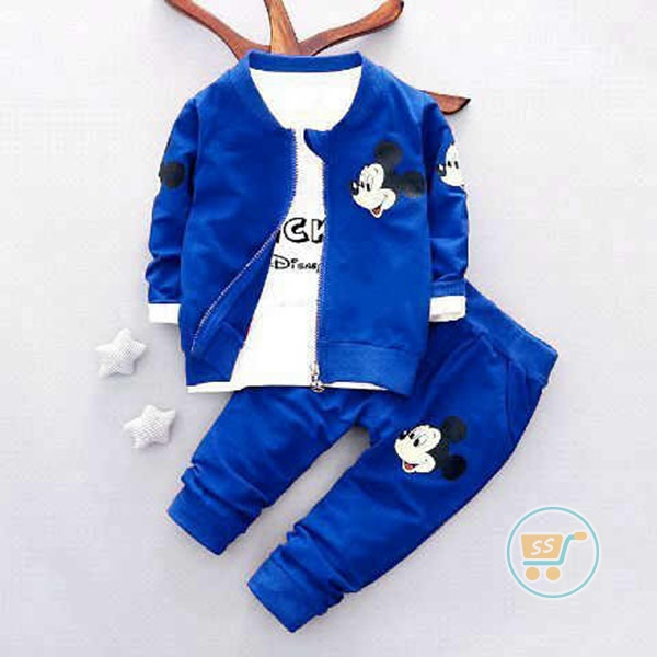 Setelan Mickey Mouse Blue 3in1
