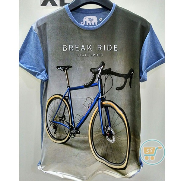 Tshirt Bicycle Break Ride XL