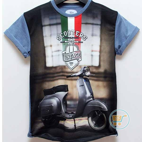 Tshirt Scooter Vintage