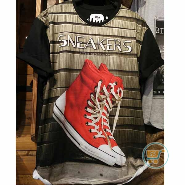 Tshirt Sneakers Stylish Everyday XL