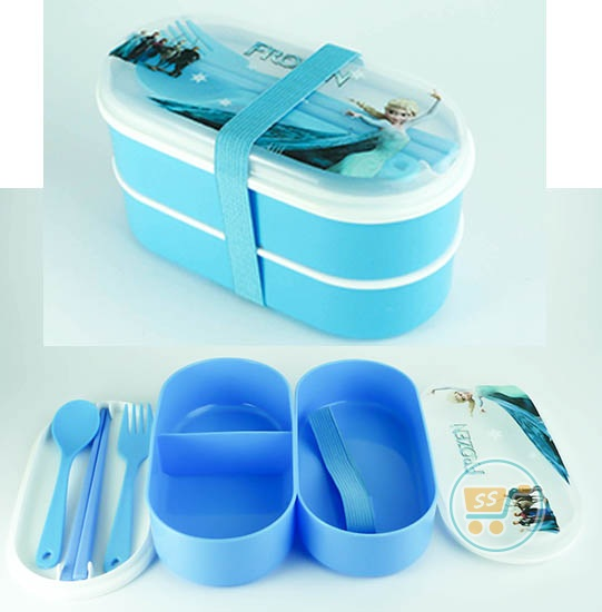 Lunch Box Frozen Susun (Pink)