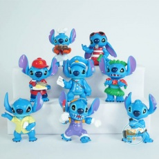 Action Figure Stitch Profesi Set of 8