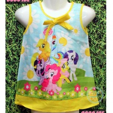 Dress Little Pony Bunga Matahari (Ukuran 4 - 14)