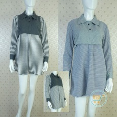 Kemeja Dress Stripe Korea Style