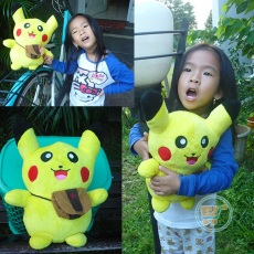 Boneka Pikachu With Bag