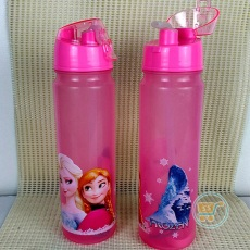Botol Minum Frozen Slim long Pink