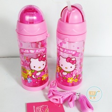 Botol Minum Hello Kitty Long Pink