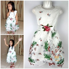 Dress Flower Renda Impor