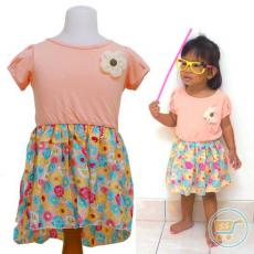 Dress Kids Sweet Flower Peach (Import)