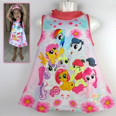 Dress Little Pony Garden (Ukuran 4- 14)