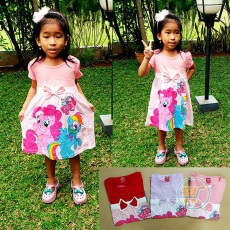 Dress Little Pony Pita (Ukuran 4 - 8)
