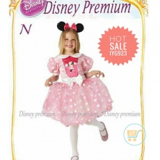 Dress Minnie Mouse Pink Polkadot