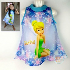 Dress Tinkerbell Sweetie (Ukuran 4 - 14)