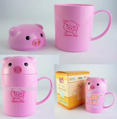 Gelas Melamin Piggy Cute Head