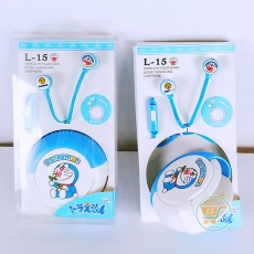 Earphone Doraemon With Box Circle