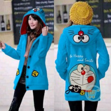 Jaket Doraemon Camera Hoodie Long