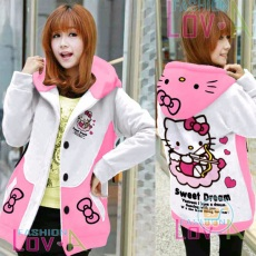 Jaket Hello Kitty Cupid Hoodie Korea