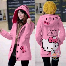 Jaket Hello Kitty Ribbon Hoodie Long