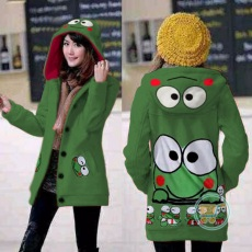 Jaket Keroppi be Happy Hoodie Long