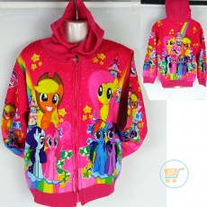 Jaket Little Pony Star Smile (Ukuran S - XL)