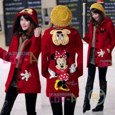Jaket Minnie Mouse Hoodie Long