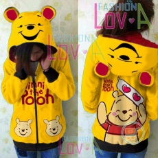 Jaket Pooh Smile Love Cute Ears