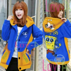 Jaket Spongebob Headphone Hoodie Korea