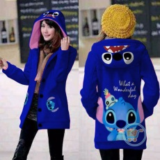 Jaket Stitch Wonderfull Day Hoodie Long