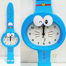 Jam Dinding Doraemon Head Watches