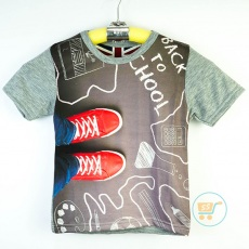 Kaos Shoes Back To School (Ukuran 4 - 14)