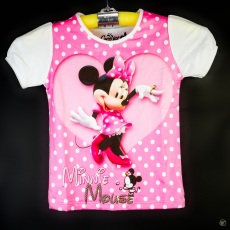Kaos Minnie Mouse Love Dance (Ukuran 4 - 14)