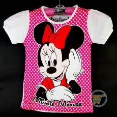 Kaos Minnie Mouse Smile Polkadot (Ukuran 4 - 14)