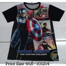 Kaos Captain America The Winter Soldier (Ukuran 4 - 14)