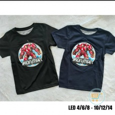 Kaos Iron Man Led Invicible