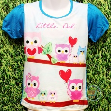 Kaos Little Owl (Ukuran 4 -14)