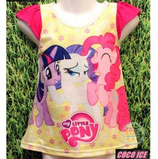 Kaos Little Pony Trio Happy (Ukuran 4 - 8)