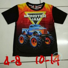 Kaos Jeep Monster Jam Blue Fire (Ukuran 10 - 14)