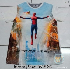 Kaos Spiderman War In The Sky (Ukuran 16 - 20)