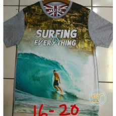 Kaos Surfing Is Everything (Ukuran 16 - 20)