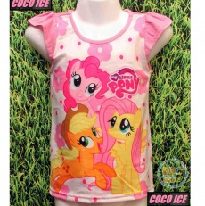 Kaos Little Pony pinky Flower (Ukuran 4 - 14)