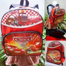 Ransel Cars McQueen Red