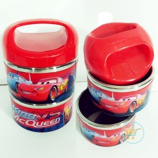 Lunch Box Cars Stainles 2 Susun