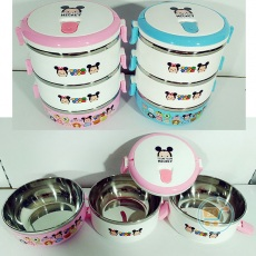 Lunch Box Tsum tsum Stainless 3 Susun